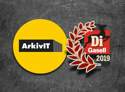 ArkivIT utsett till Di Gasell 2019
